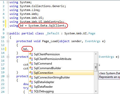 Apelido Namespace
