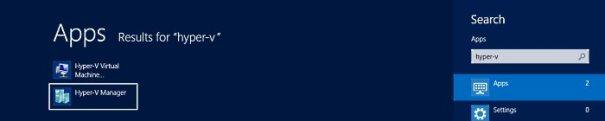 Localizando o Hyper-v Manager no Windows 8